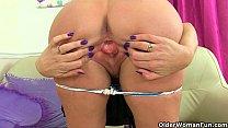 Scottish milf Toni Lace has got to rub her craving pussy