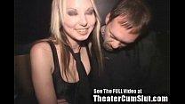 Cum Slut Zoe Gets Jizz Coated & Creampied In Public Porn Theater