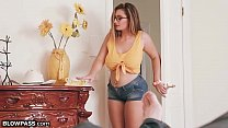 BlowPass Curvy Teen Britt James will BLOW 2 Borrow Car!
