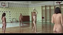 Poland nudist women playing volleyball