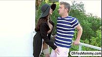 MILF Ariella gives a sexual entertainment to Angels boyfriend