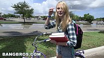 Tight Lil' Blondie Gets WRECKED On The Bang Bus! (bb14633)