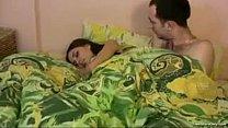 My cute sister fell asleep in my bed mmm