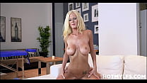 Big Tits Petite Blonde MILF Stepmom Olivia Blu Family Fucked By Stepson During Massage