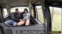 Delightful Jasmines wet and wild experience inside the taxi