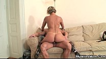 Hot m. in law enjoys cock riding