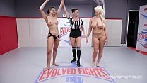 London River wrestles Penny Barber and gets beat and fucked