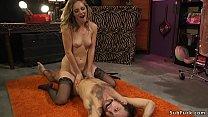 Dom slut spanks and anal fucks male