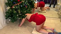 Stepmom gets stuck and fucked in the christmas tree - Erin Electra
