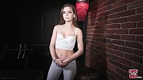GIRLS GONE WILD - Hot College Girl Solo In Backroom For Casting