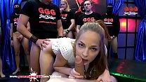 Super Cute Bibi gets her Mouth full of Cum - German Goo Girls