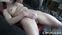 Mature Female Bodybuilder Masturbates in the Gym
