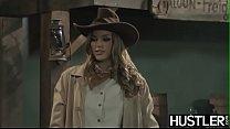Wild West lesbian Ryan Ryans forms 69 on bar counter