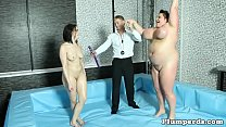 Huge wrestling BBW bounces on cock