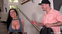 Busty lovers can't wait to hear Milf Sheridan Love orgasm during titty fuck