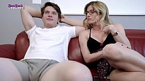 Step Mom with Big Tits Dares me to just Put in the Tip Milf Fuck - Cory Chase