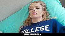 SisLovesMe - Big Brother Cock For Tiny Blonde Stepsis
