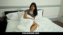 SisLovesMe - Step-Sis (Gina Valentina) lends my cock a hand