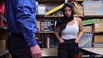Muslim teen with huge tits busted stealing from a store