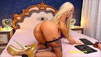 Hot and sexy blonde in high heels gets wild