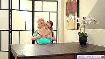 Stepmom gets a tit massage from stepteen