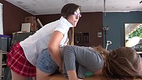BUSTED: Tight Pussy Asian punishes and spank her bare ass, shows discipline to Shortest Schoolgirl Uniform Skirt Girl as she gets caught while playing cards cheating