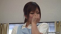 Asian house keeper getting naughty and creamed by a guest