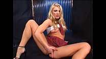 Horny man sked stunning blonde babe  Aurora Snow to caress her pussy in school uniform
