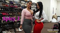 BANGBROS - Behind the Scenes with Latina Babes Spicy J and Diamond Kitty