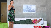 Horny brunette MILF Lyzley gets her pussy licked by teen Kimberley