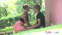 'Hey, want a blowjob overe there?' Violeta Cruz will blow any stranger in the park