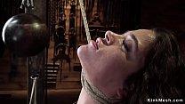 Brunette slave is extreme tormented