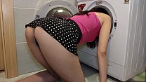 Friend's wife stuck in washing machine and I fucked her