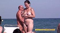 Hairy Pussy Amateur Nude MILF Voyeur Beach Video