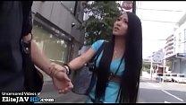 Japanese teen asks random guy to fuck in hotel