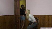Blonde milf fingered by lesbian escort