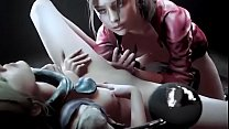 Perfect animation, Claire & Sherry of Resident Evil 2 - Remake