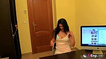 Spectacular brunette from Valencia is up to anything in this incredible deepthroat casting