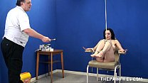 Whipped Feet of Tied up Amateur Slavegirl Beauvoir