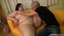 Fat ass plumper is picked up and doggystyled