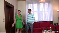 Old mature lady is lured into 3some