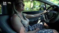 Secret Vacation with My Step Mom - Nude Car Ride and Hotel Blowjob - Cory Chase