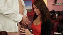 Fakeshooting  - Cute brunette takes it from behind in fake casting