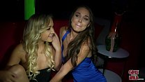 GIRLS GONE WILD - Young Blonde Lesbians Make Out and Eat Pussy in Club
