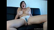 Busty brunette squirts on webcam