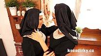 Two catholic nuns enjoying lesbian sex