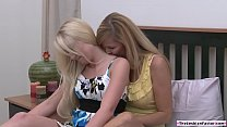 Shy teen licked by a lesbian milf