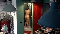 Czech chunky teen - Hidden cam in the shower