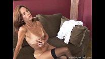 Slim old spunker in sexy stockings is feeling horny