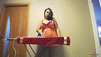 Wild Housewife Loves Ironing Clothes Naked